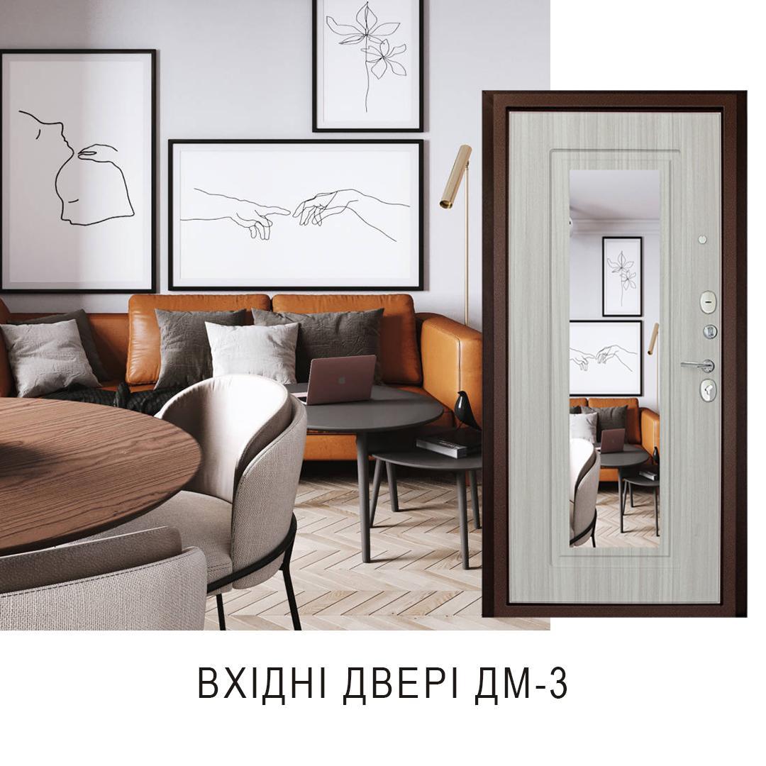 входные двери с зеркалом харьков