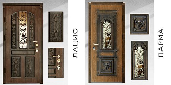 двери с ковкой и стеклом